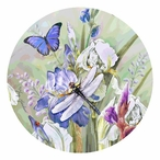 Dragonfly and Iris Round Beverage Coasters by Greg Giordano, Set of 12