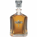 Dragonfly Capitol Glass Decanter with Pewter Accents