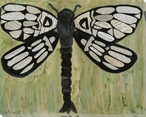 Dragonfly Text Wrapped Canvas Giclee Print Wall Art