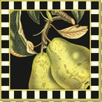 Dramatic Pears Wrapped Canvas Giclee Print Wall Art