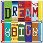 Dream Big Absorbent Beverage Coasters by Kate Ward Thacker, Set of 12