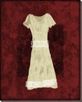 Dress with Lace 2 Wrapped Canvas Giclee Print Wall Art