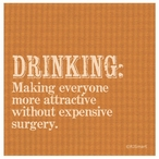 Drinking Absorbent Beverage Coasters by RJ Smart, Set of 12