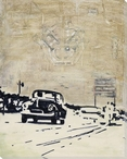 Drive the Quarter Mile Wrapped Canvas Giclee Print Wall Art