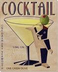 Dry Martini Wrapped Canvas Giclee Print Wall Art