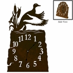 Ducks in the Cattails Metal Table Clock