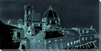 Duomo di Firenze at Night Wrapped Canvas Giclee Print Wall Art