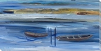 Dusk Boats at Sea Wrapped Canvas Giclee Art Print Wall Art