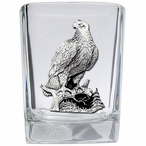 Eagle Bird Perching Pewter Accent Shot Glasses, Set of 4