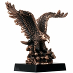 Eagle Catching Fish Statue - Copper Finish