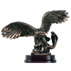 Eagle Catching Snake Statue - Antique Bronze Finish