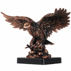 Eagle & Fish Statue - Copper Finish