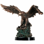 Eagle Hatching Statue - Copper Finish
