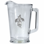 Eagle Kachina Glass Pitcher with Pewter Accent
