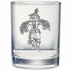 Eagle Kachina Pewter Accent Double Old Fashion Glasses, Set of 2
