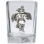 Eagle Kachina Pewter Accent Shot Glasses, Set of 4