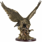 Eagle Medium Statue - Brass Finish