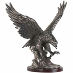 Eagle Medium Statue - Pewter Finish