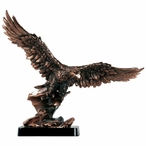 Eagle with Wide Wings Statue - Copper Finish