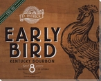 Early Bird Bourbon Whiskey Wrapped Canvas Giclee Print Wall Art