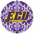 East Carolina Pirates Pattern Beverage Coasters, Set of 8