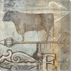 East Wind Bull Wrapped Canvas Giclee Print Wall Art
