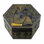 Egyptian Ramesses II Sitting in School Hexagonal Trinket Box