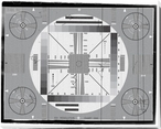 EIA TV Test Pattern Wrapped Canvas Giclee Print Wall Art