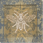 Elegant Bee Wrapped Canvas Giclee Print Wall Art
