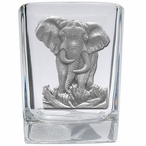 Elephant Pewter Accent Shot Glasses, Set of 4