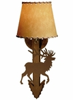 Elk Arrow Metal Wall Sconce with Shade