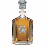 Elk Capitol Glass Decanter with Pewter Accents