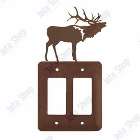 Elk Double Rocker Metal Switch Plate Cover