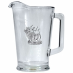 Elk Glass Pitcher with Pewter Accent