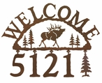 Elk Metal Address Welcome Sign