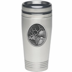 Elk Oval Stainless Steel Travel Mug with Pewter Accent