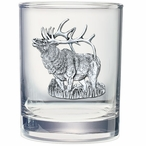 Elk Pewter Accent Double Old Fashion Glasses, Set of 2