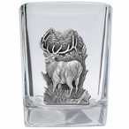 Elk Pewter Accent Shot Glasses, Set of 4