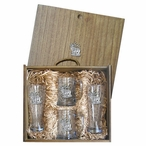 Elk Pilsner Glasses & Beer Mugs Box Set with Pewter Accents