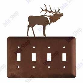 Elk Quad Toggle Metal Switch Plate Cover