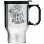 Elk Stainless Steel Travel Mug with Handle and Pewter Accent