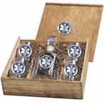 Emergency Medical Services Blue Capitol Decanter & DOF Glasses Box Set