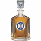 Emergency Medical Services Blue Capitol Glass Decanter with Pewter
