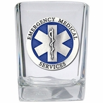 Emergency Medical Services Blue Pewter Accent Shot Glasses, Set of 4
