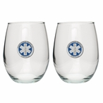 Emergency Medical Services Blue Pewter Stemless Wine Goblets, Set of 2