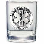 Emergency Medical Services Pewter Accent DOF Glasses, Set of 2