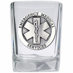 Emergency Medical Services Pewter Accent Shot Glasses, Set of 4