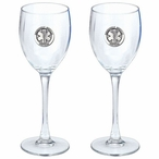 Emergency Medical Services Pewter Accent Wine Glass Goblets, Set of 2