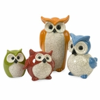 Enchanted Owls Sculptures, Set of 4