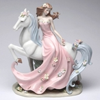 Enchanting Damsel Porcelain Sculpture